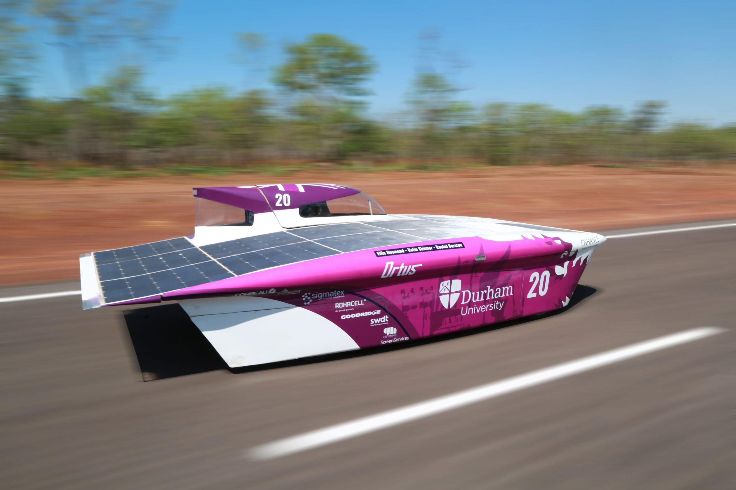 Durham University Electric Morotsport at Bridgestone World Solar Challenge 2019
