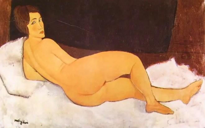 Amedeo Modigliani, nudo sdraiato su fianco sinistro, 1917