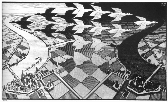 Escher, day and night