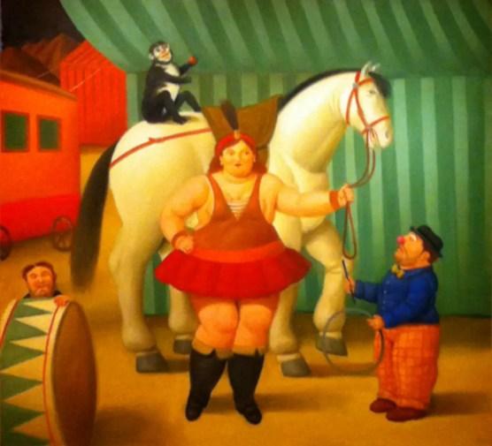 Fernando Botero, Gente del circo, Museo de Bellas Artes di Bilbao