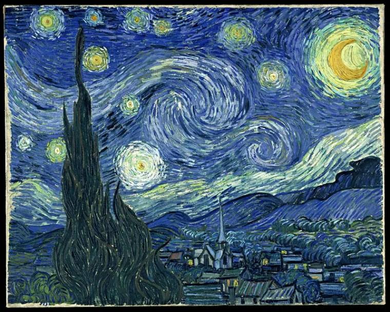 Vincent Van Gogh, Notte stellata, 1889, olio su tela, 73.7×92.1 cm, Museum of Modern Art, New York
