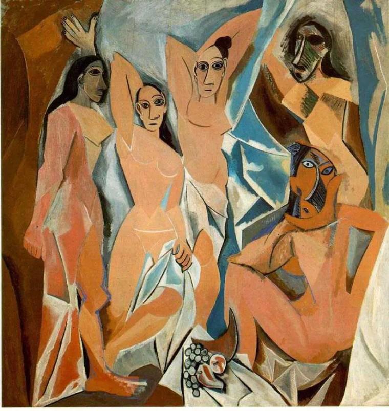 Pablo Picasso, Les demoiselles d'Avignon, 1907, olio su tela, 243,9×233,7 cm, MoMA, New York