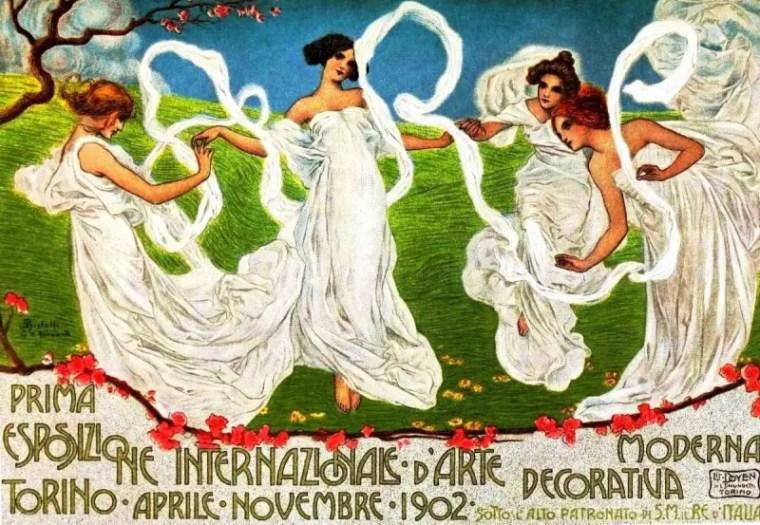 Manifesto dell'esposizione universale di Torino del 1902