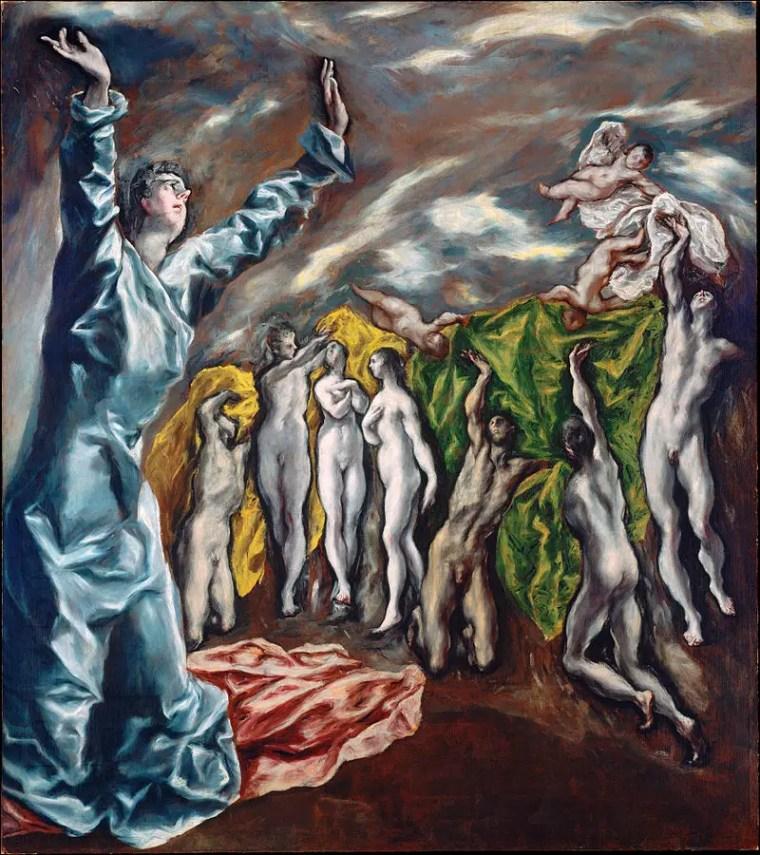 El Greco, Apertura del quinto sigillo dell'Apocalisse, 1608–1614, olio, 225 × 193 cm, New York, Metropolitan Museum of Art