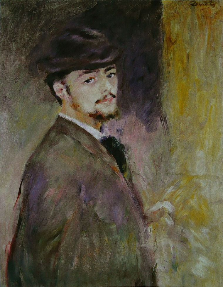 Pierre-Auguste Renoir, Autoritratto, (1876), Fogg Art Museum