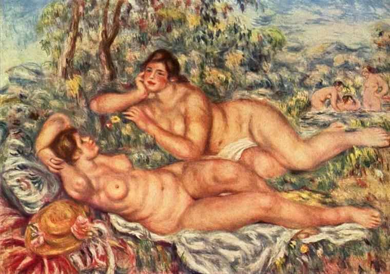 Pierre-Auguste Renoir, Le bagnanti, 1918-1919, olio su tela, 60×110 cm, Museo d'Orsay, Parigi