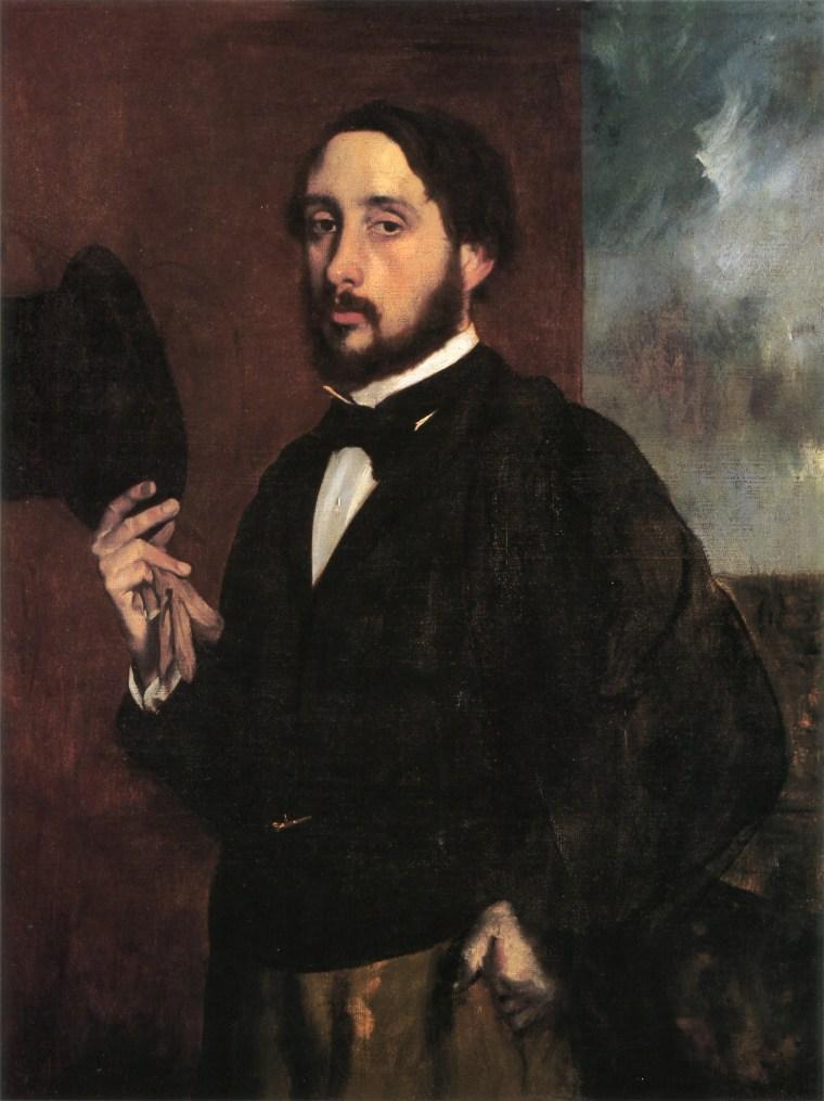Edgar Degas, autoritratto, 1863