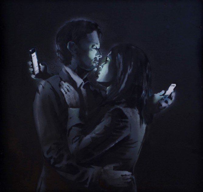 Banksy, Mobile Lovers