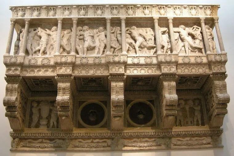 Donatello, cantoria, 1433-1438, marmo, 348×570×98 cm, Cattedrale di Santa Maria del Fiore, Firenze