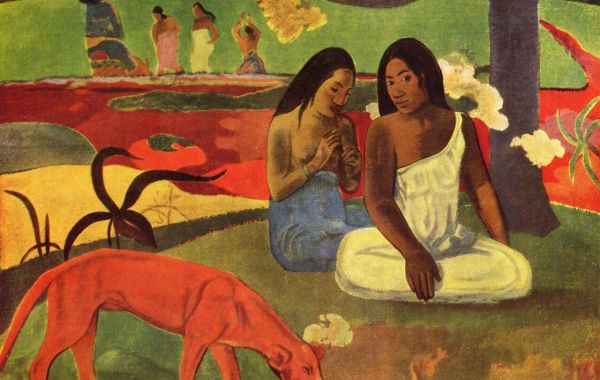 Paul Gauguin, Arearea, 1892, olio su tela, 75×94 cm, Museo d'Orsay, Parigi