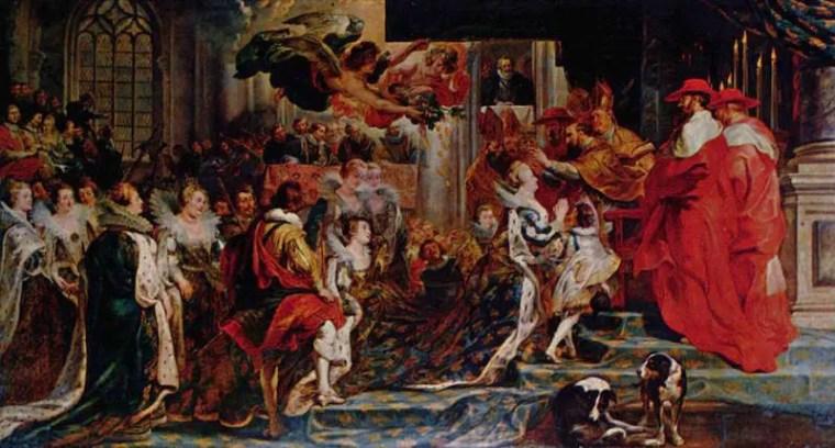 Peter Paul RUbens, L'incoronazione della regina all'abbazia di Saint-Denis, il 13 maggio 1610