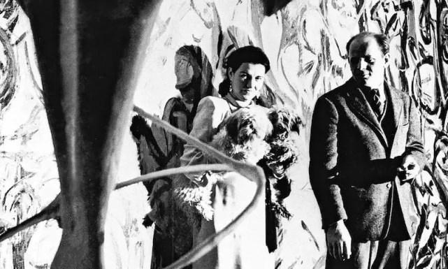 Peggy Guggenheim in compagnia del pittore Jackson Pollock