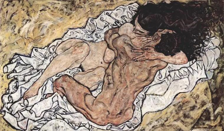 egon_schiele_gli-amanti_1912_vita_opere_biografia_due-minuti-di-arte