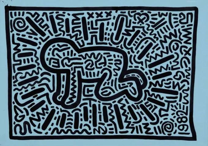 keith-haring_bambino-radiante_vita_opere_riassunto_due-minuti-di-arte