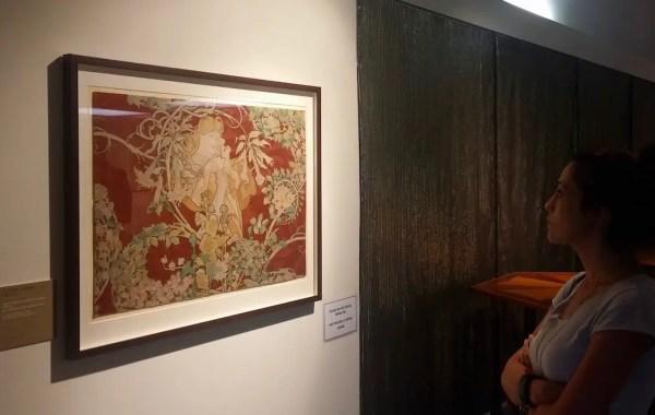 Una delle meravigliose opere di Mucha in mostra a Trieste