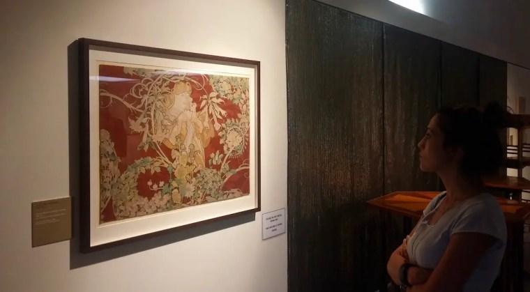 Una delle meravigliose opere di Mucha in mostra a Trieste nel 2017