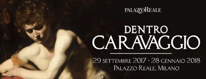 Mostra Caravaggio Milano, locandina