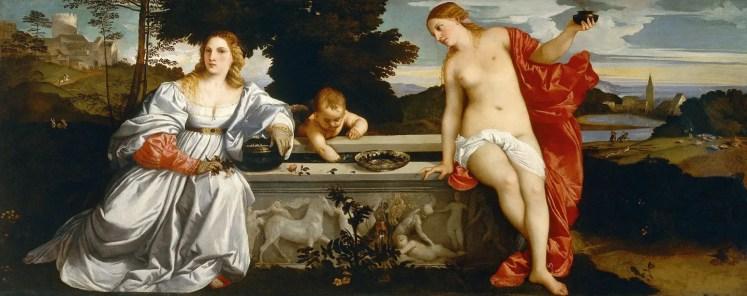 Tiziano, Amor sacro e Amor profano, 1515 circa, Galleria Borghese, Roma