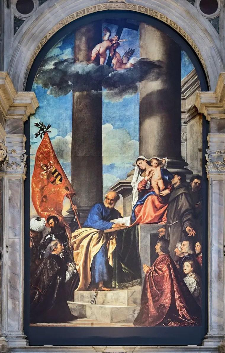 Tiziano, Pala Pesaro, 1519-1526,Basilica di Santa Maria Gloriosa dei Frari, Venezia