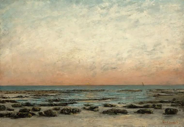 Gustave Courbet, Tramonto: la spiaggia a Trouville, c. 1866