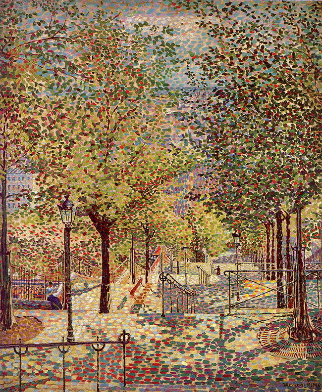 Gino Severini, Printemps à Montmartre, 1909
