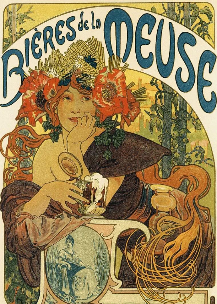 Alfons Mucha, Manifesto pubblicitario per la Bieres de la Muse