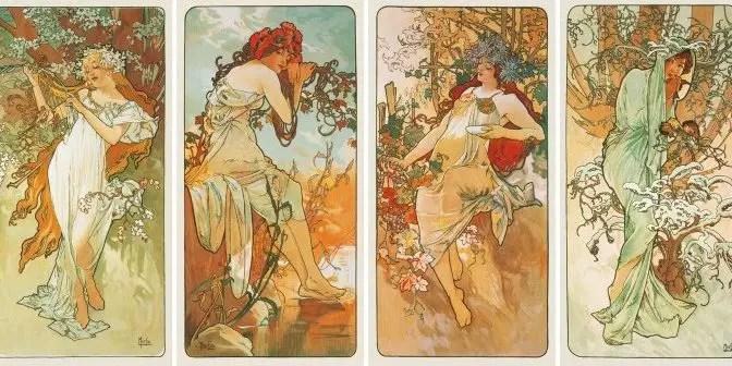 Alfons Mucha, Le 4 stagioni, 1896