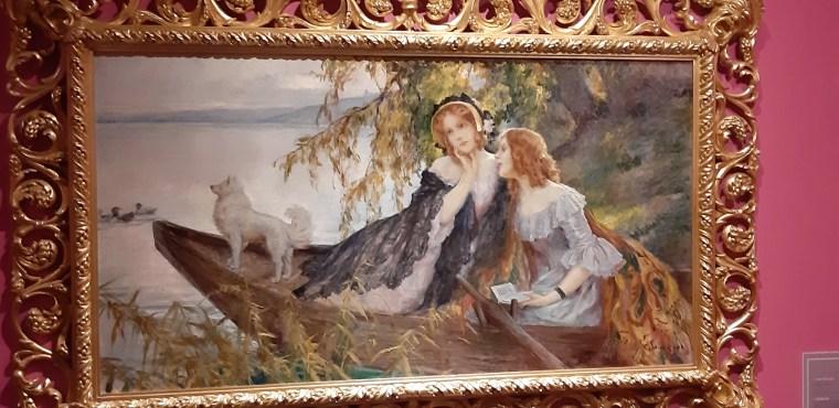 Cesare Saccaggi, Confidenze sulla barca, olio su tela