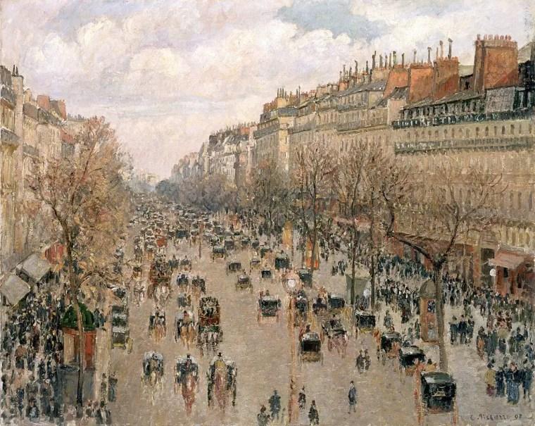 5. Camille Pissarro, Boulevard Montmartre, 1897, Museo dell'Ermitage, San Pietroburgo