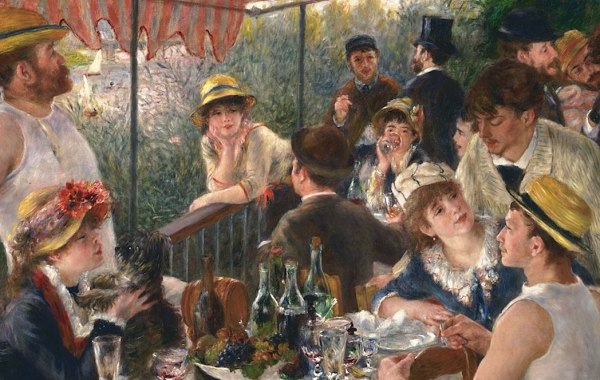 Pierre-Auguste Renoir, Il pranzo dei canottieri, 1880-1882, olio su tela, 129,5×172,5 cm, Phillips Collection, Washington
