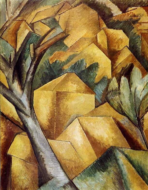 Georges Braque, Casa all'Estaque, 1908, Museo d'Arte, Berna