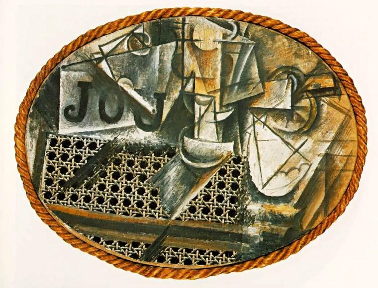 Pablo Picasso, Natura morta con sedia impagliata, 1912, Musée National Picasso, Parigi