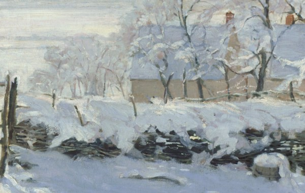 Claude Monet, La gazza (dettaglio)