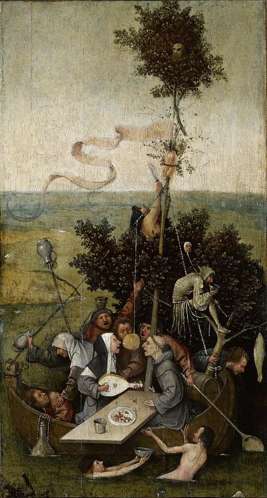 Hieronymus Bosch, Nave dei folli, 1494 circa, Parigi, Museo del Louvre