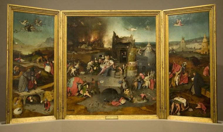 Hieronymus Bosch, Trittico delle Tentazioni di sant'Antonio, 1501 circa, Museo nazionale d'arte antica, Lisbona