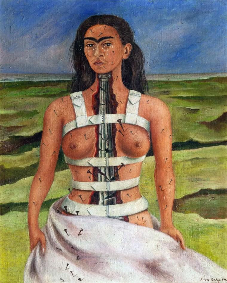 Frida Kahlo, La colonna rotta, 1944 Museo Dolores Olmedo,Xochimilco, Mexico City, Mexico