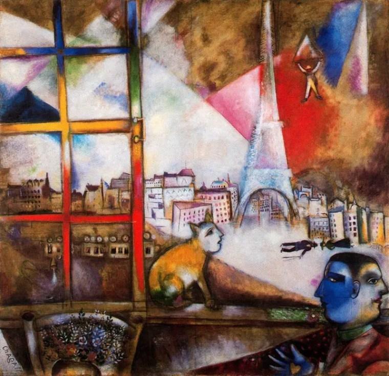 Marc Chagall, Parigi dalla finestra, 1913, Peggy Guggenheim Collection, Venezia