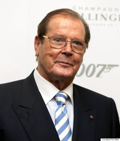"""File photo dated 5/10/2012 of Sir Roger Moore as Bond fans hoping to see more Moore will be disappointed after Sir Roger said he was """"hanging my safari suit back in the wardrobe""""."""