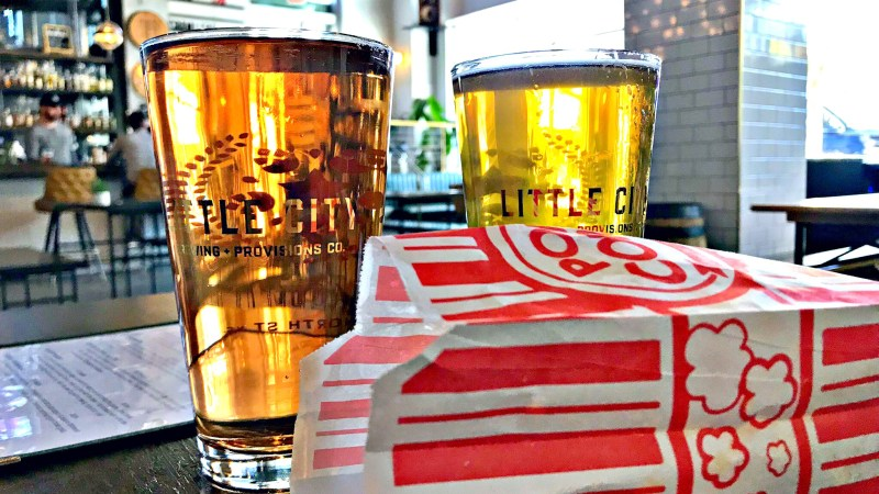 Popcorn And Beer At Little City Brewing + Provisions in Raleigh, NC
