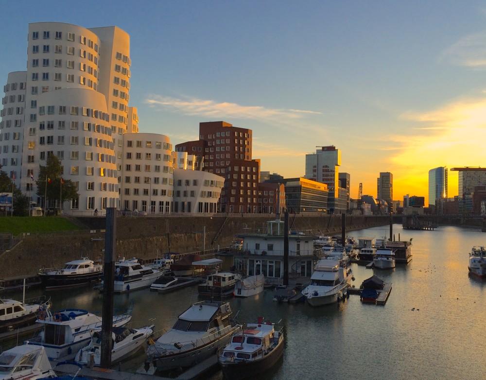 Düsseldorf Medienhafen at Sunset