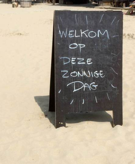 The Hague - Welcome Sign on the Beach
