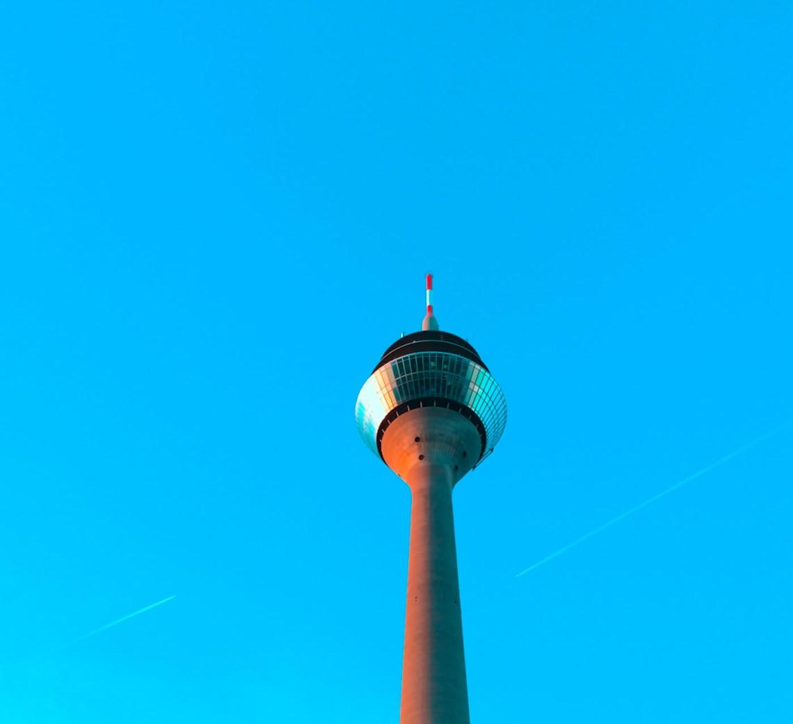 Rheinturm Blue Sky