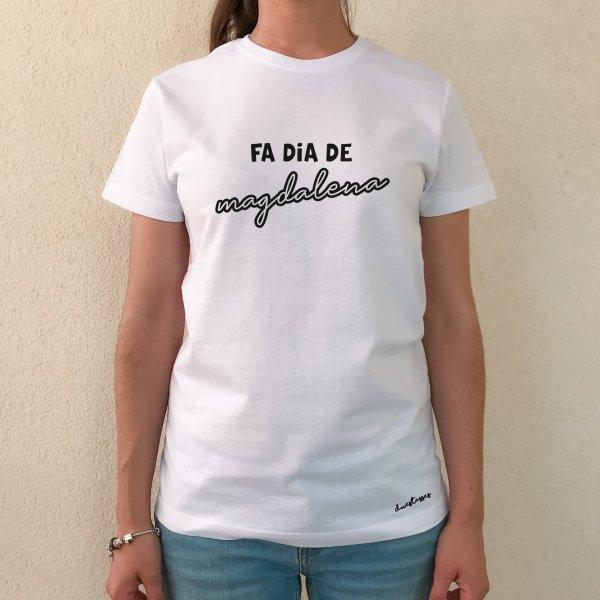 camiseta blanca chica fa dia de magdalena
