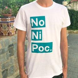 camiseta no ni poc blanca chico