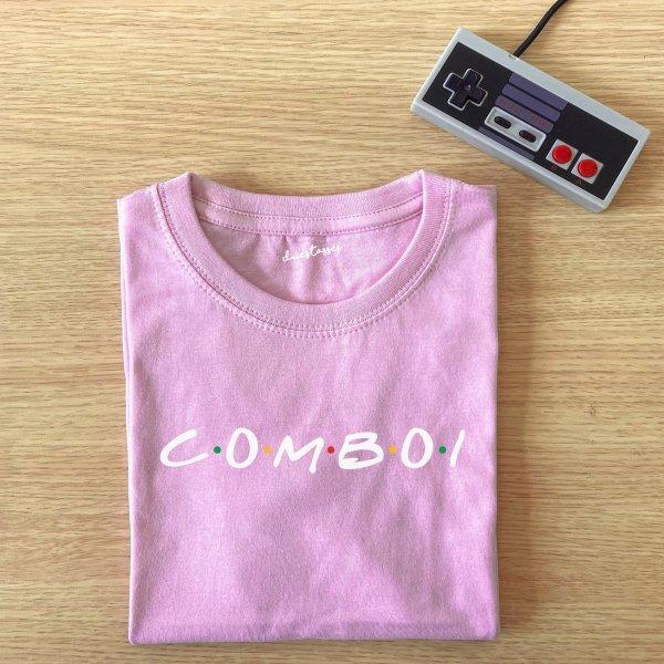 camiseta rosa comboi