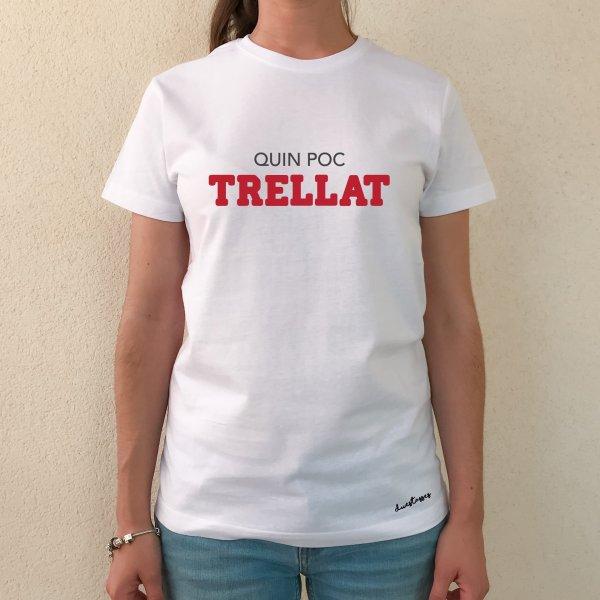 camiseta blanca chica quin poc trellat