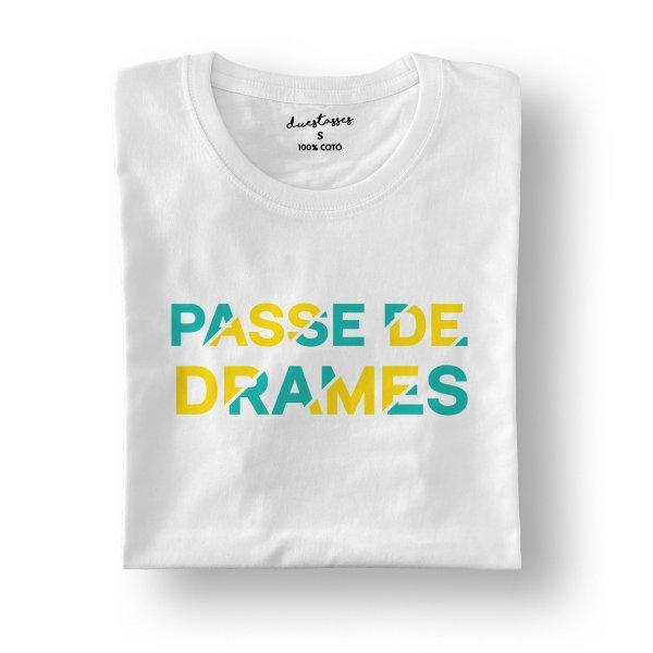 camiseta blanca passe de drames