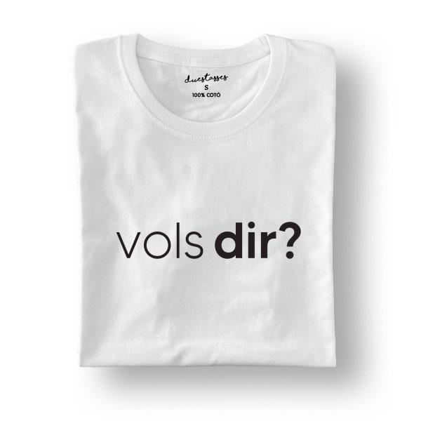 camiseta blanca vols dir?