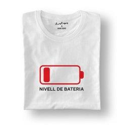 camiseta blanca bateria descarregada