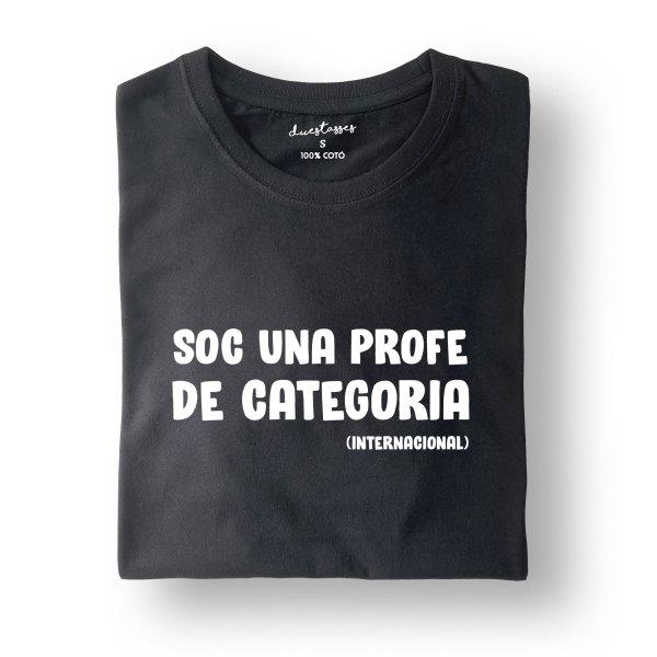 camiseta negra soc una profe de categoria
